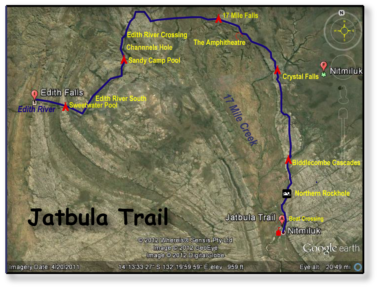 The Jatbula Trail Nt The Cicada Dreaming By Map And