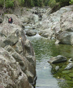Rock Hopping in Booloumba Ck Conondale National Park SEQld