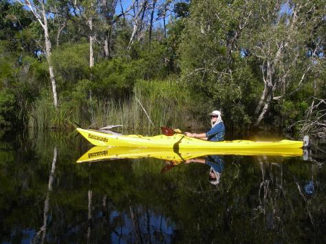 Ross in his Barracuda Kayak