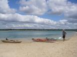 Beached Sea Kayaks