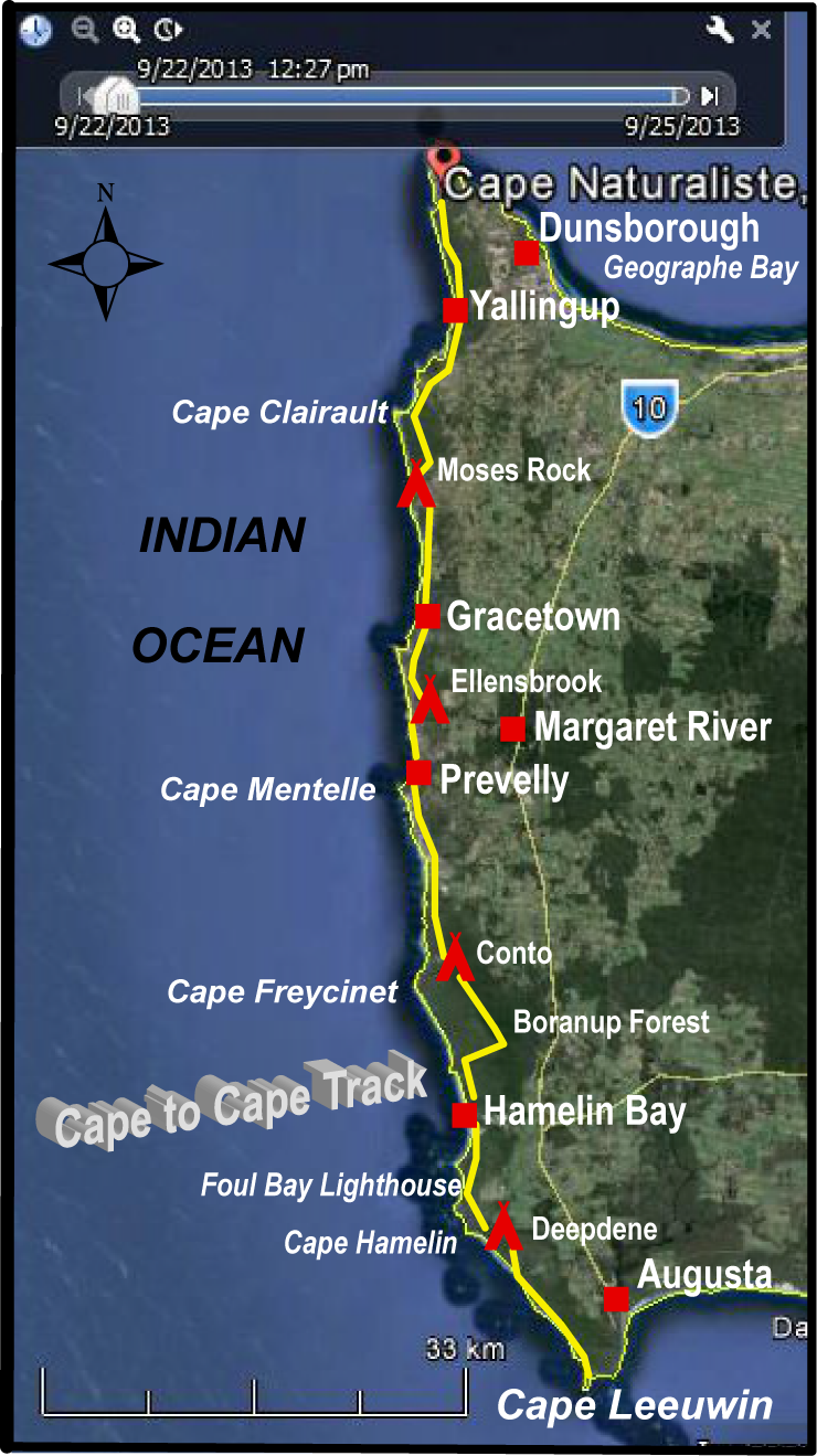 Cape to Cape final map WA