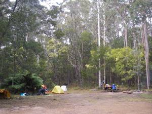 Our campsite @ Boundar Falls
