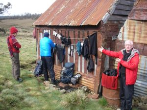 Drying clothes @ Four Mile Hut