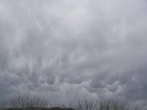 Mammatus cloud.