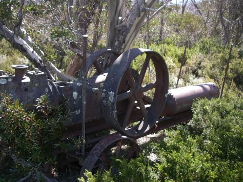Mining equipment: Grey Mare Hut.