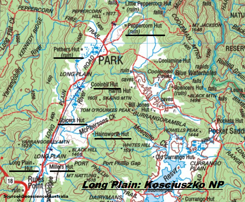 Map Of Australia Mt Kosciuszko.Long Plain Northern Kosciuszko National Park By Map And Compass