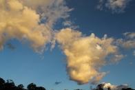 Evening clouds over Long Plain.