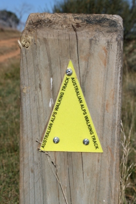 Australian Alps Walking Trail marker.