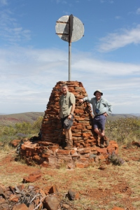 Brian & Glenn at Mt Meharry summit cairn