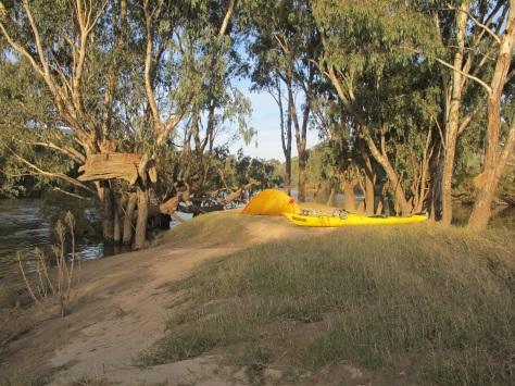 Bernard's first campsite on the upper Murray