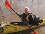 Bernard in his BeachComber ultrlight Kayak