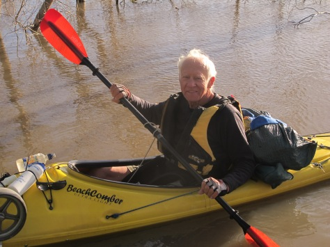 Bernard in his BeachComber ultralight Kayak