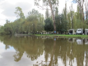 Caravan Park on the river