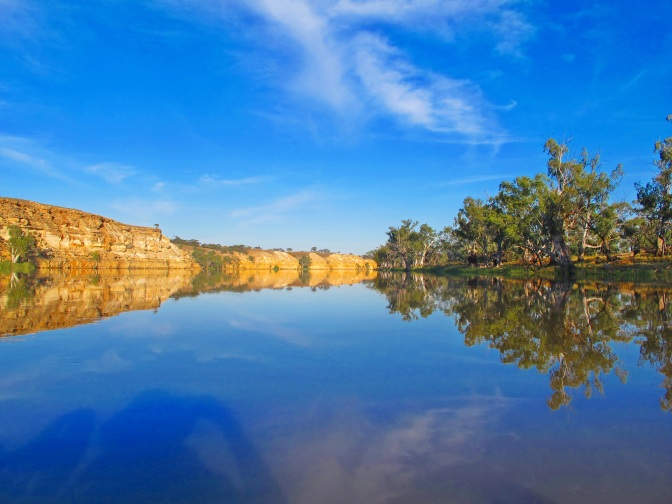Paddling Australia's mighty Murray River.