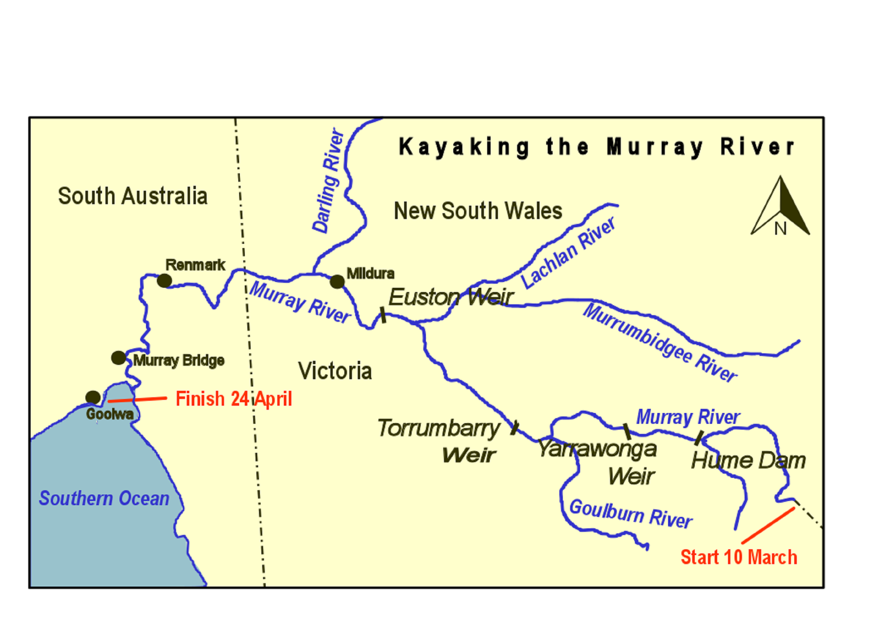 Paddling The Murray River By Map And Compass - Google river maps
