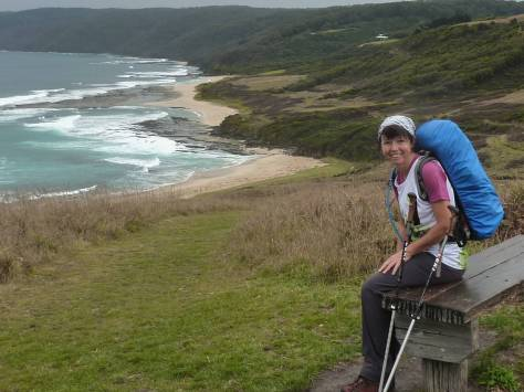 View along Great Ocean coastline.