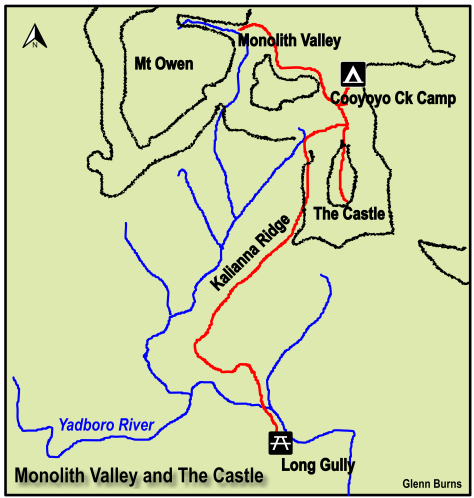 Map of Monolith Valley and The Castle