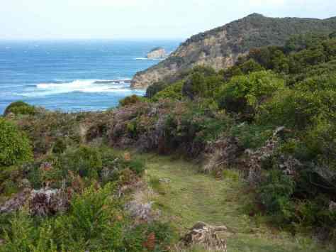 Rugged coastline between Milanesia Beach and Ryans Den