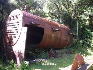 Old Sawmill Boiler, Maori Beach.