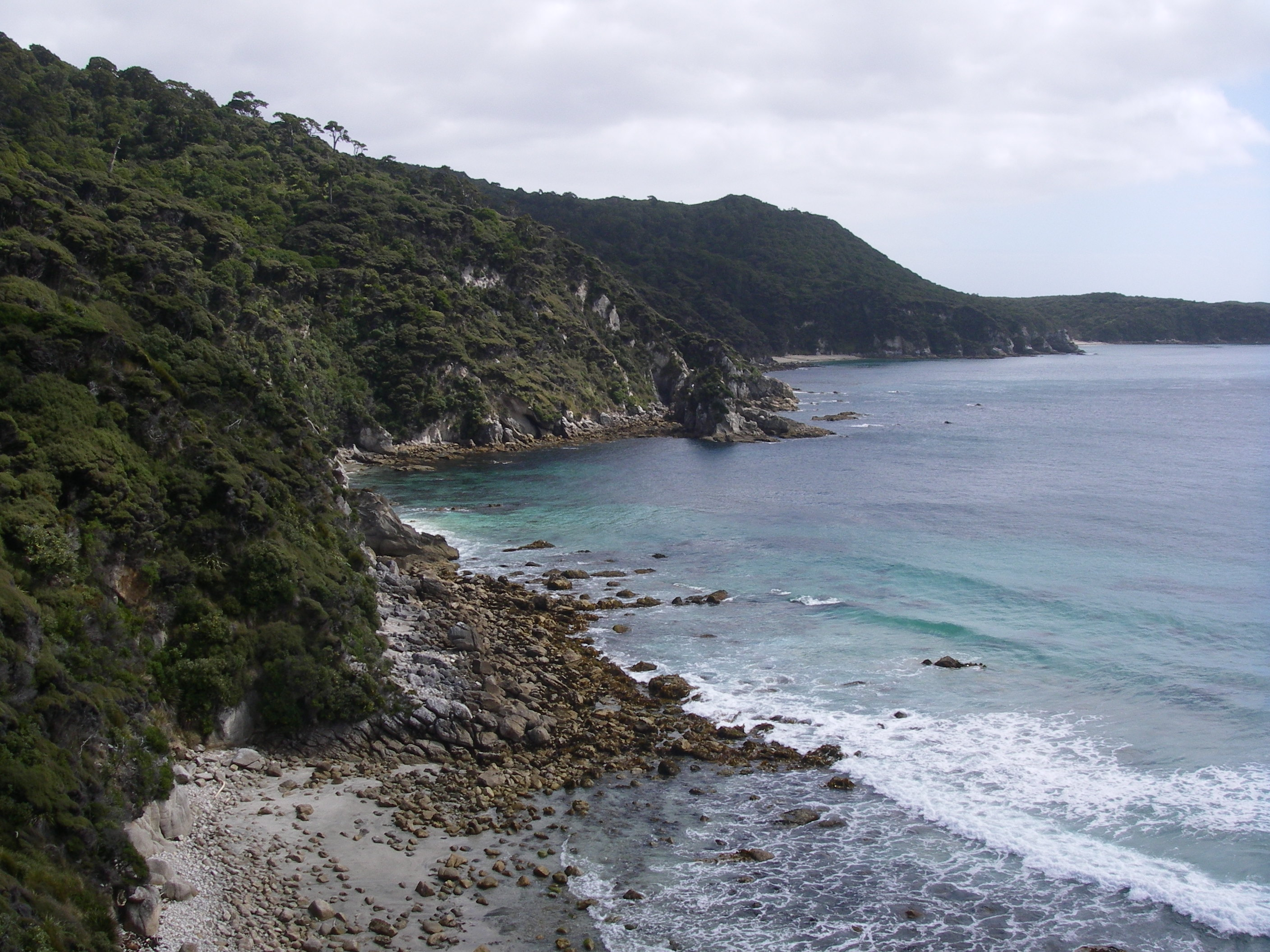 Cliffed coastline near Long Harry Hut