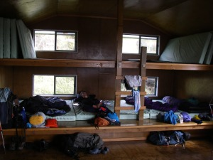 Interior of Long Harry Hut