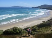 Steep climb from Waituna Beach
