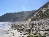 Bouldery beach. Nth end of Mason Bay