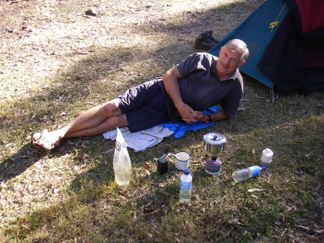 Roland relaxing at Burrows Waterhole