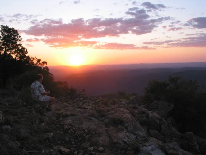 Sunset at Sundown. Southern Sundown National Park. Qld.