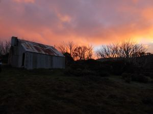 Mawsons Hut at dusk.