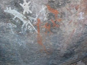 Aboriginal stencils Yankee Hat site Namadgi National Park