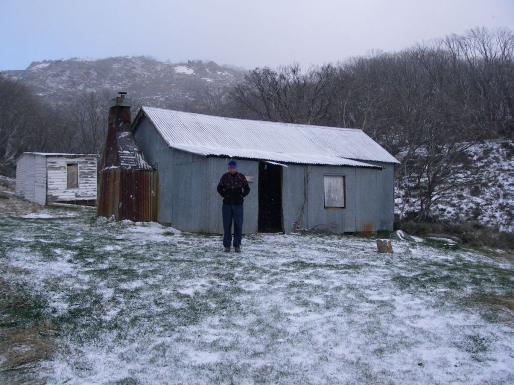 Image of Whites River Hut before The Kelvinator was removed.