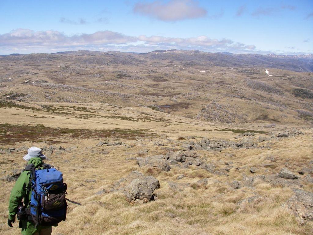Descending Mt Jagungal