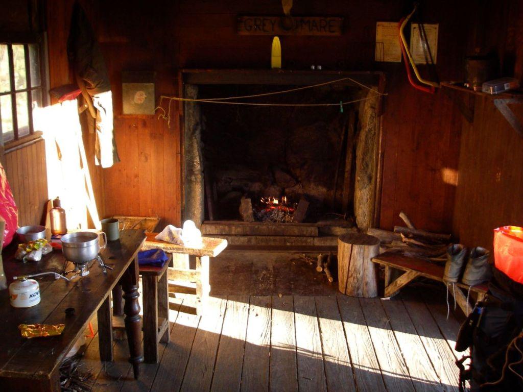 Interior of Horse Camp Hut