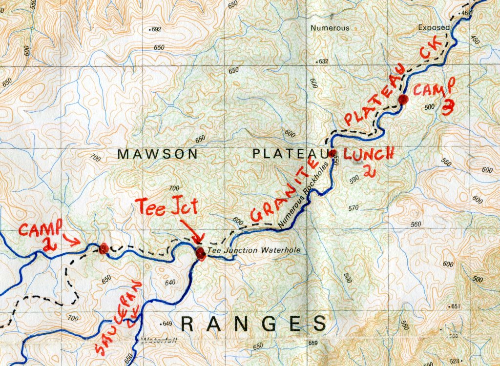 Map of Mawson Plateau