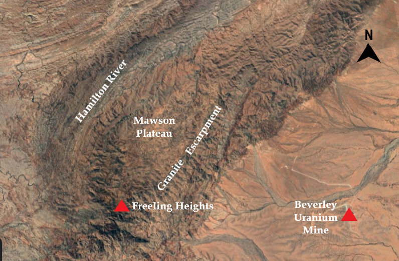 Satellite View of Mawson Plateau.